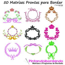 Matrizes de Bordados Molduras Elegantes - 50 Matrizes