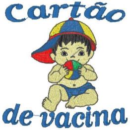 Matriz De Bordado Carteirinha de Vacinação Menino