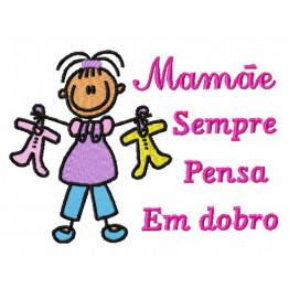 Matriz De Bordado Brinde Dia das Mães