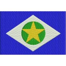 Matriz de Bordado Bandeira Mato Grosso
