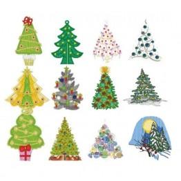 Matrizes para bordar Arvores de Natal Lindas!