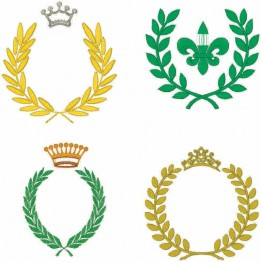 50 Matrizes de Bordados Coroas , Brasões e Ramos
