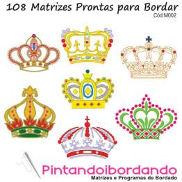 Matrizes de Bordado - Coroas
