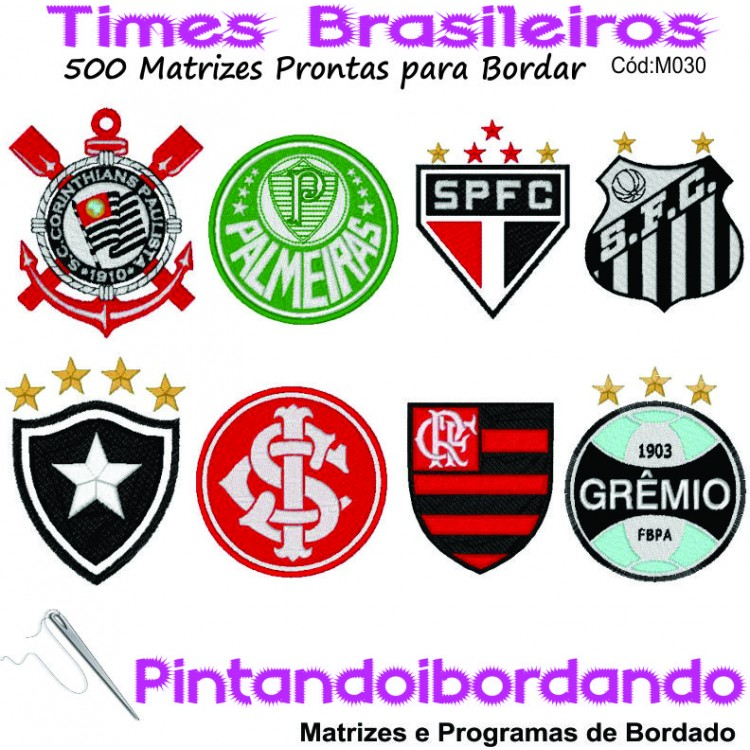 Matrizes de Bordados Times de Futebol bcb605a1c01fa