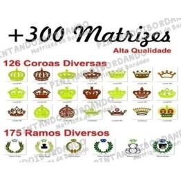 + 300 Matrizes Coroas e Ramos Variadas