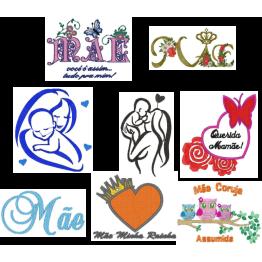 120 Matrizes De Bordar Dia das Mães