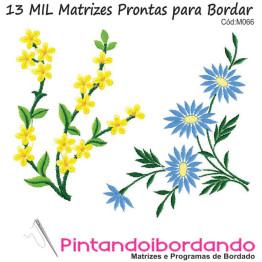 13 Mil Matrizes de Bordados Floral, Flores Diversas