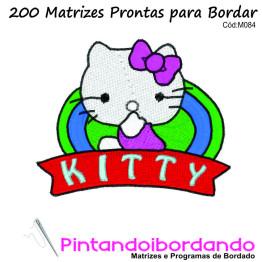Matrizes De Bordado Hello Kitty  - 200 Matrizes
