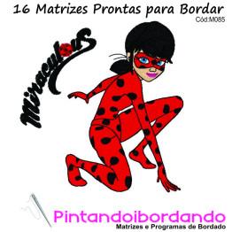Matrizes De Bordados Lady Bug E Cat Noir  - 16 Matrizes