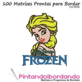 Matrizes de Bordados Frozen com Alfabetos