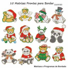 Matrizes De Bordado Natal Ursinhos