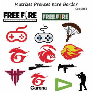 Matrizes de Bordar Free Fire - 12 Matrizes