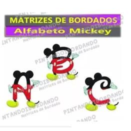 Matrizes De Bordados Alfabeto Mickey Disney