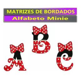 Matrizes De Bordados Alfabeto Minie Disney