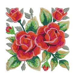 Matrizes de Bordados Rosas Vermelhas