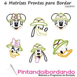 Matrizes de Bordados Apliques Safari Disney