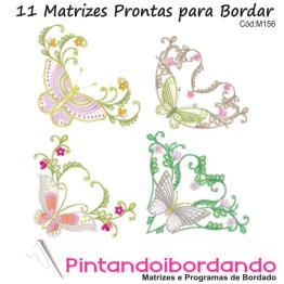 Matrizes de Bordados Borboletas Florais