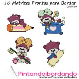 Matrizes de Bordados Ursinhos Bebês