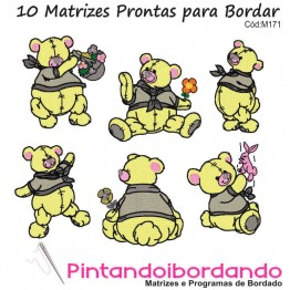 Matrizes de Bordados Urso Amoroso