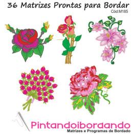 Matrizes de Bordados Flores Diversas