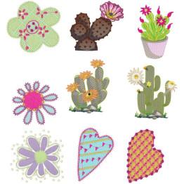 Matrizes de Bordados Cactus e Flores