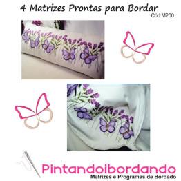 Matrizes de Bordados Para travesseiros borboletas