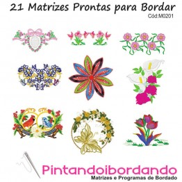 Matrizes de Bordados Flores Lindas!!