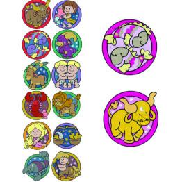 12 Matrizes de bordados Signos do zodíaco