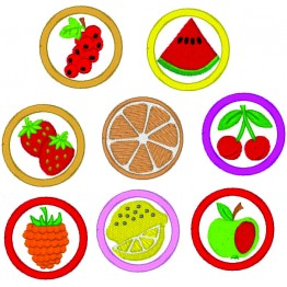 Matrizes para bordar frutinhas