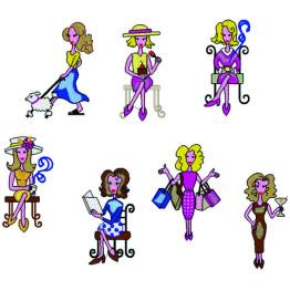 Matriz de bordado Mulheres Chiques