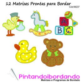 12 Matrizes de bordado Baby Apliques
