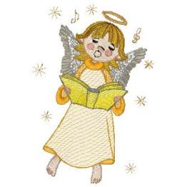 7 Matrizes de bordado anjinhos cantando!