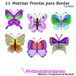 Matrizes de bordado Borboletas coloridas