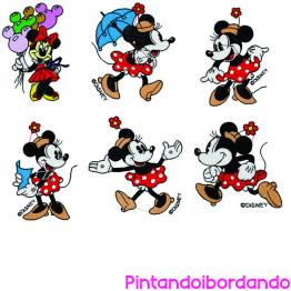 35 Matrizes de Bordado Coleção Minie Disney