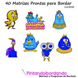 40 Matrizes de bordado Galinha Pintadinha