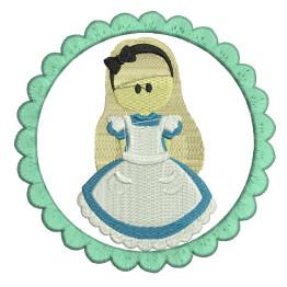 Matriz de bordado Alice no país das Maravilhas