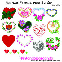 + de 200 Matrizes para Bordar Corações