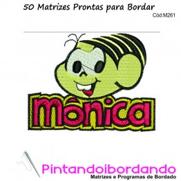 50 Matrizes para Bordar Turma da Monica
