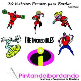 30 Matrizes para Bordar Os Incríveis