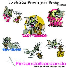 70 Matrizes para Bordar Tom e Jerry