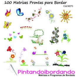 Matrizes de bordar Natureza em Miniaturas + de 100 Matrizes