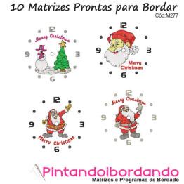 Matrizes para bordar Relógios de Natal