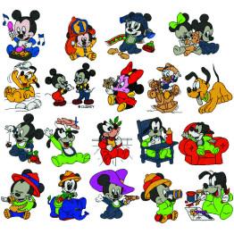 240 Matrizes De Bordar Minie E Mickey Baby