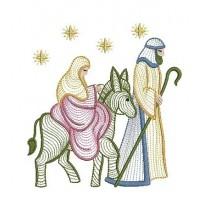 10 Matriz De Bordado Nascimento De Jesus Natal Em Rippled