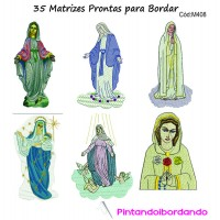 35 Matrizes para bordar  Nossa Senhora
