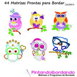 44 Matrizes de bordado Corujas/Apliques diversas!