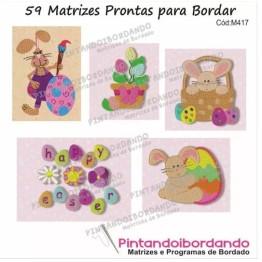 59 Matrizes Para Bordar De Coelhos Da Páscoa E Ovos!