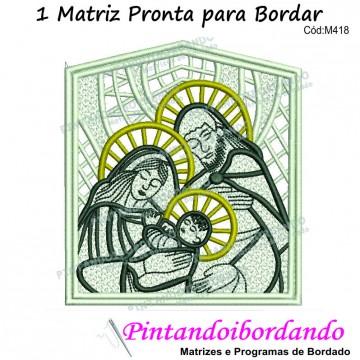 1 Matriz para Bordar Sagrada Família