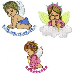 Matrizes De Bordado Anjos Delicados