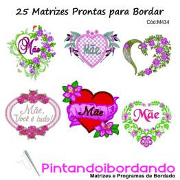 Matrizes para Bordar Dia das Mães!